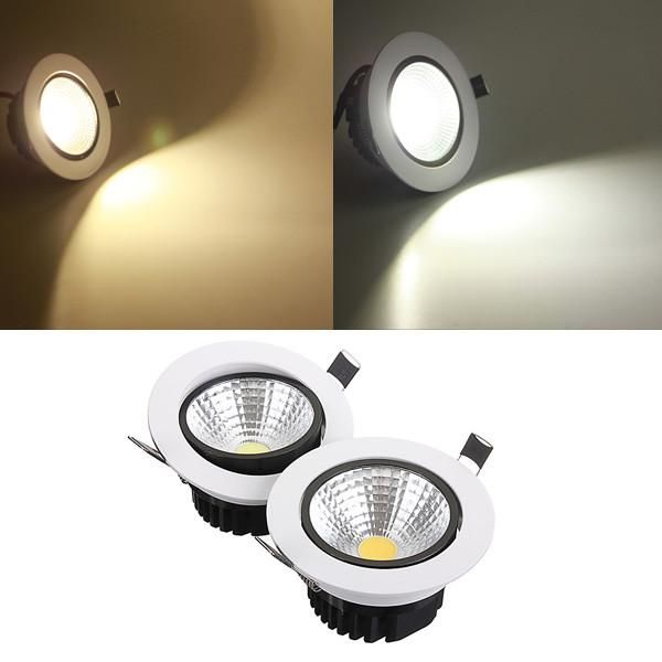 7w Dimmable Cob Led Recessed Ceiling Light Fixture Down Light Kit Led Recessed Ceiling Lights