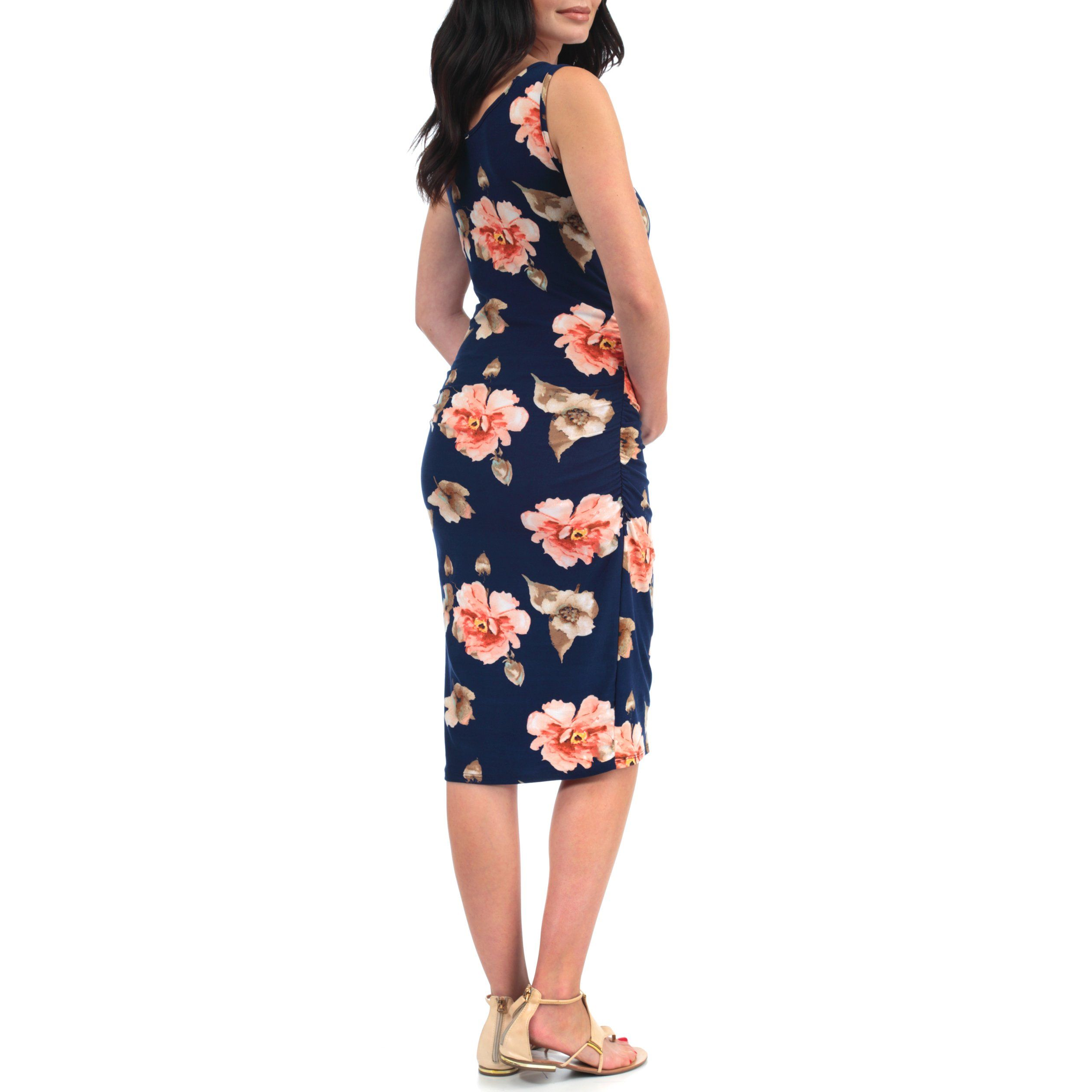 91ff3d6bd4 Maternity Fashion - designer maternity dresses   Womens Side Ruched Tank Maternity  Dress Made in USA Small Tropical Navy -- You can obtain even more details  ...