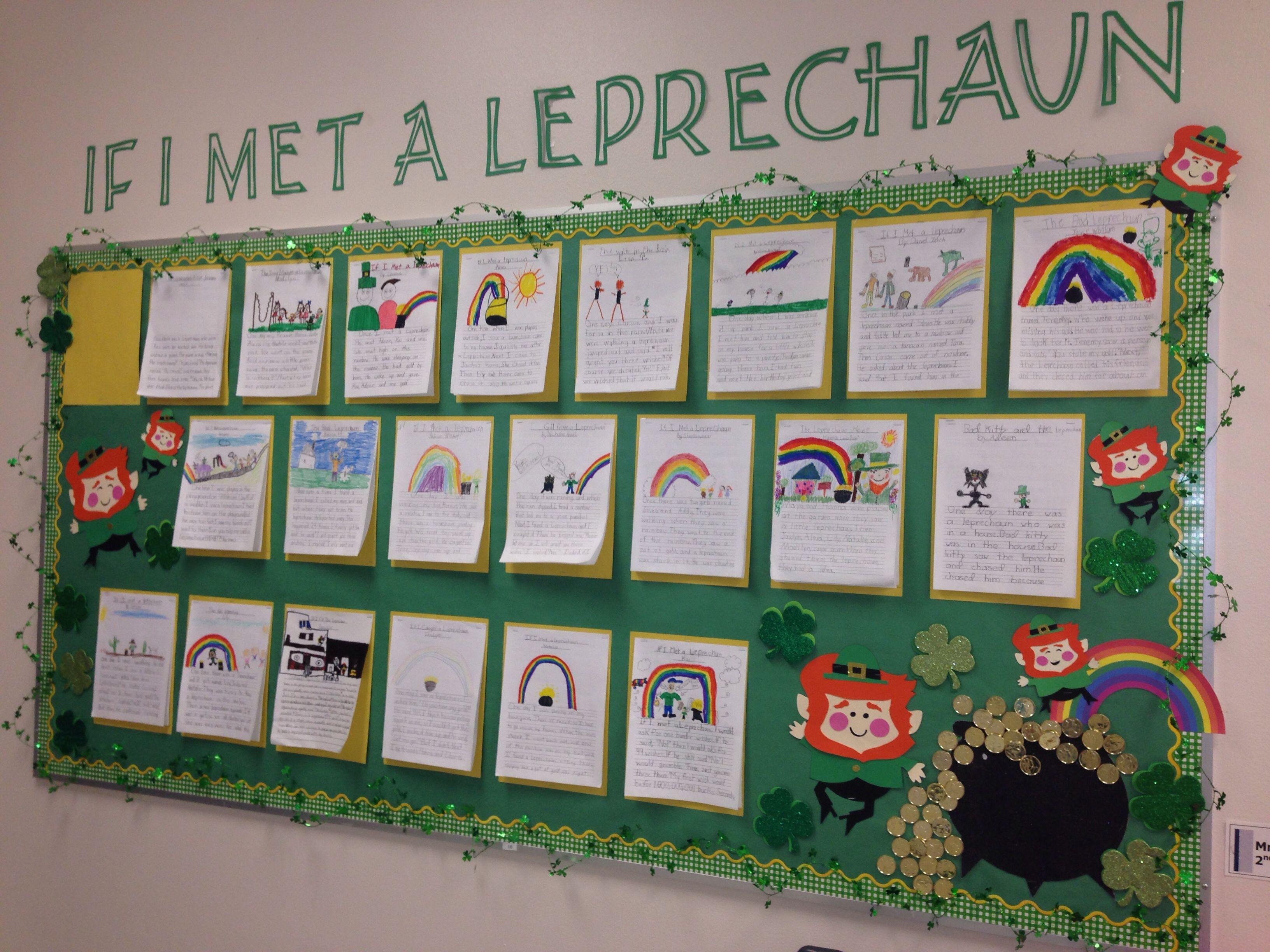 St Patrick S Day Bulletin Board If I Met A Leprechaun