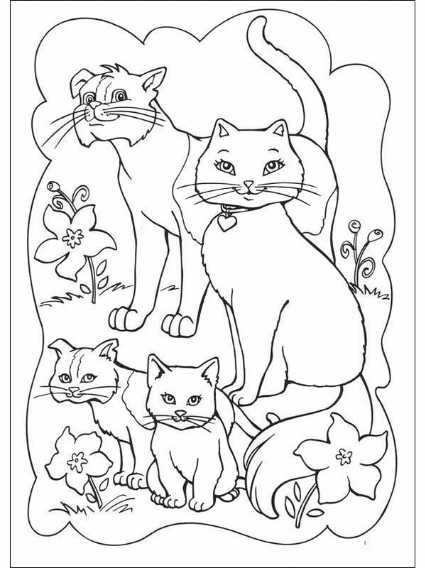 Cats And Kittens Coloring Page Family Coloring Pages Cat