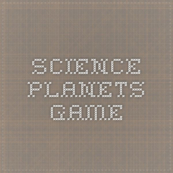 Science - Planets game