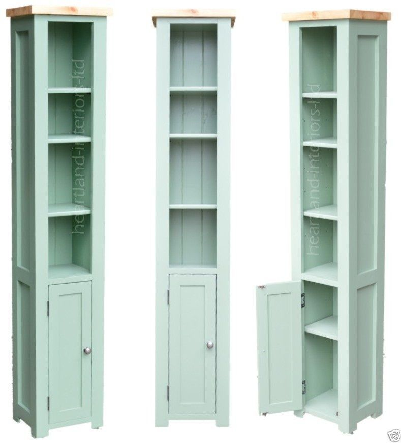 100 Solid Wood Bordeaux F B Painted Tall Narrow Bookcase With Cupboard