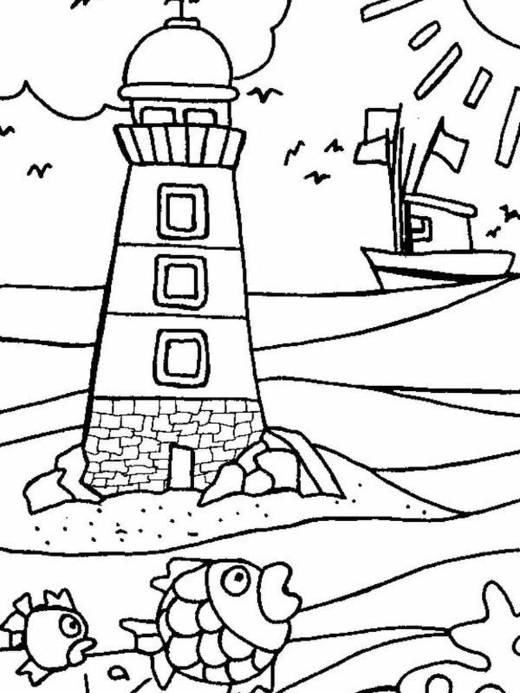 Lighthouse Coloring Pages For Adults Below Is A Collection Of Lighthouse Coloring Page Which You Can D Beach Coloring Pages Free Coloring Pages Coloring Pages