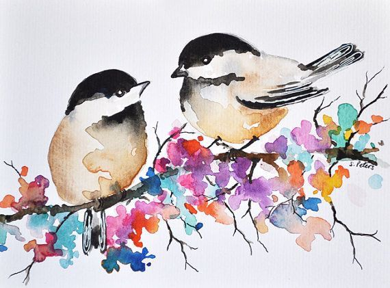 Watercolor Watercolor Bird Bird Art Bird Drawings