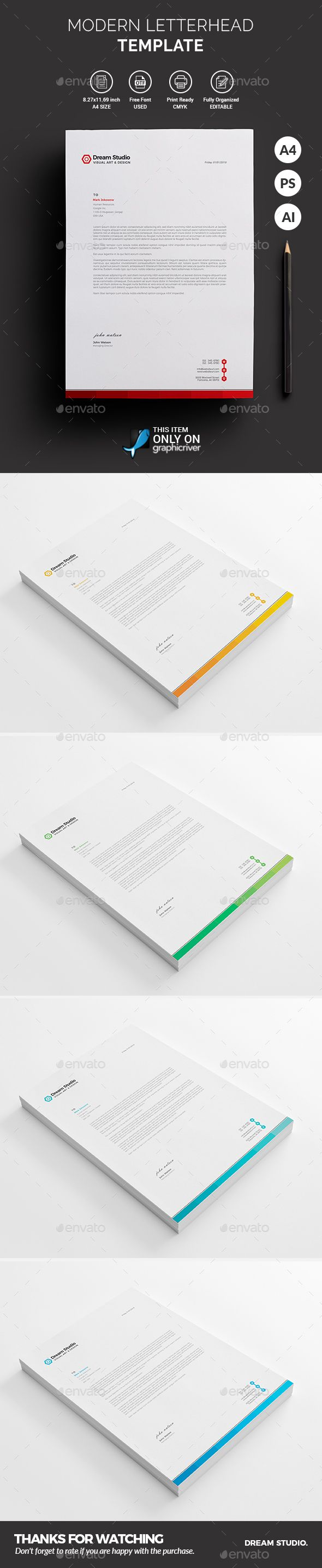 Letterhead fonts letterhead template and stationery printing letterhead spiritdancerdesigns Choice Image