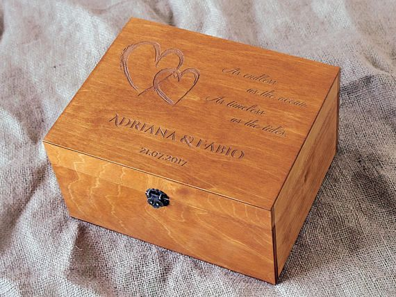 wedding keepsake box personalized keepsake box custom memory