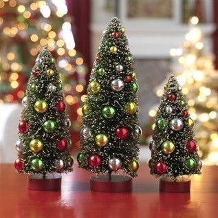 raz imports bottle brush christmas trees 12 set of 3 sp marketplace - Bottle Brush Christmas Trees