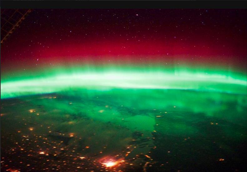 Satellite view with aurora aurora borealis pinterest