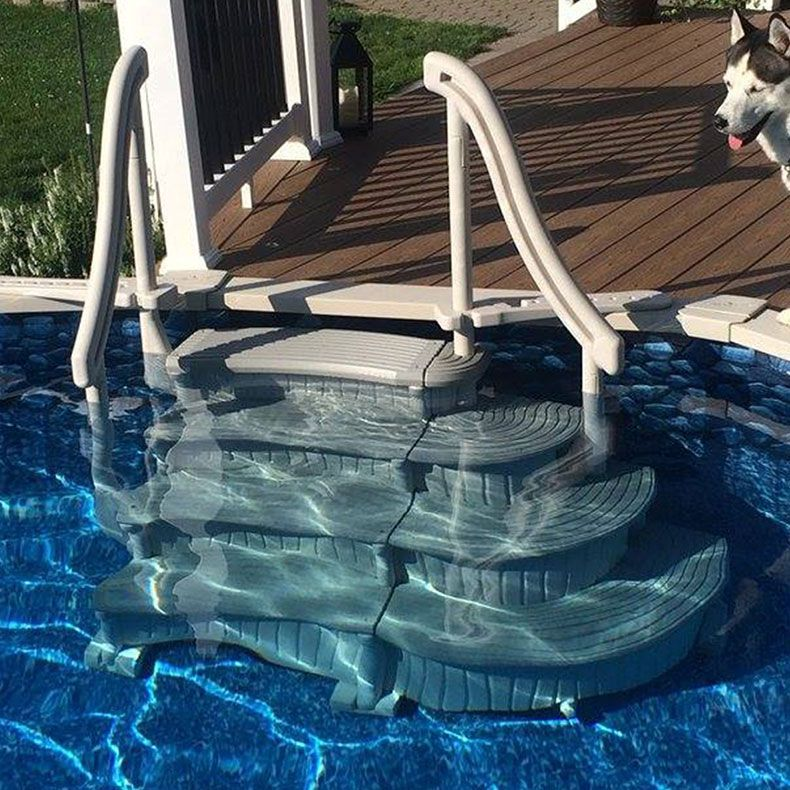 Confer Curve Above Ground Pool Steps For Sale Doheny S Pool Supplies Fast Pool Steps Above Ground Pool Steps Above Ground Swimming Pools