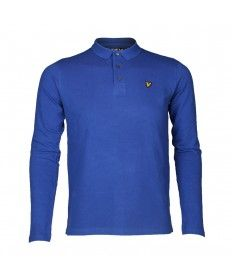 ae6a27cc5 Junior Lyle & Scott Duke Blue Long Sleeve Polo Shirt | Lyle & Scott ...