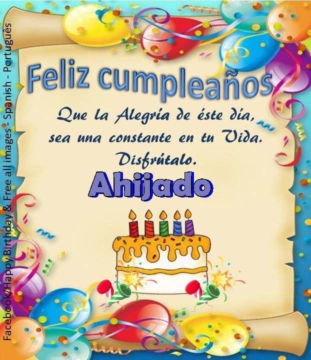 Ahijado ┌iiiii┐Felíz Cumpleaños ┌iiiii┐   Feliz Cumpleanos