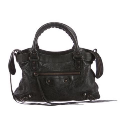 ff3b75af7513c Black Agneau leather Balenciaga Motocross Classic First Bag ...