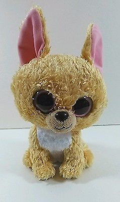 Nacho Chihuahua Puppy Dog Ty Beanie Boo Big Eyes Plush Tan Bean Bag Toy B272 3c5888e23cd