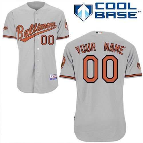 f9c1d88d8 ... wholesale orioles personalized authentic grey mlb jersey s 3xl 145ed  25936