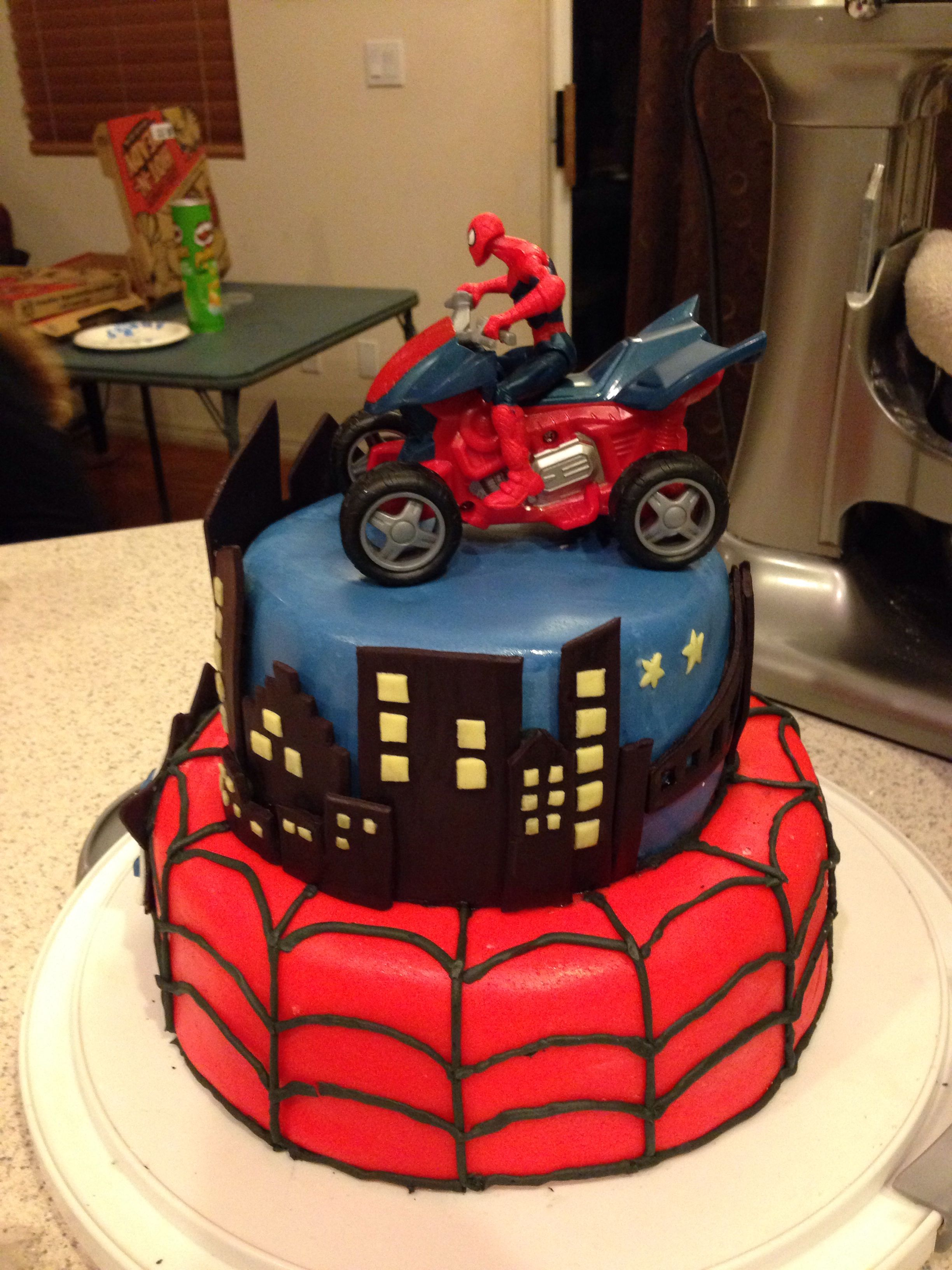 Spider Man Birthday Cake So Many Cakes So Little Time