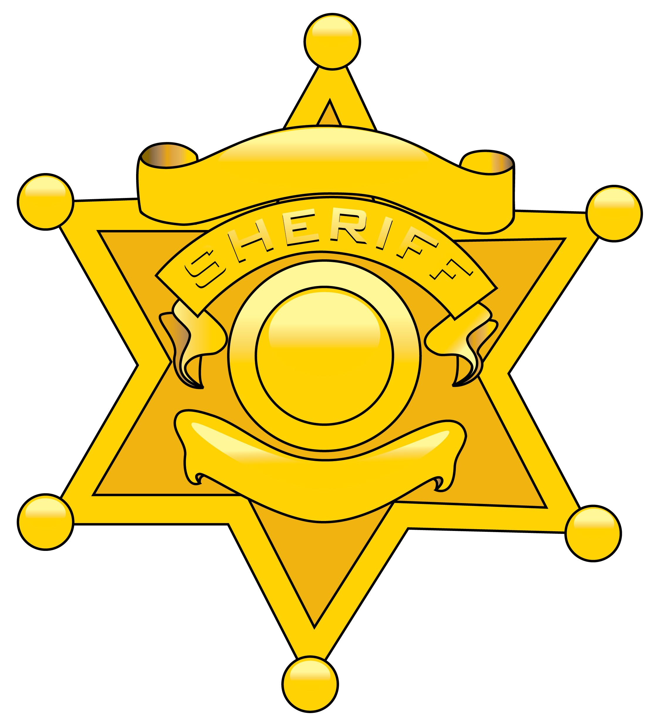 Sheriff badge gallery for police cartoon badge clipart