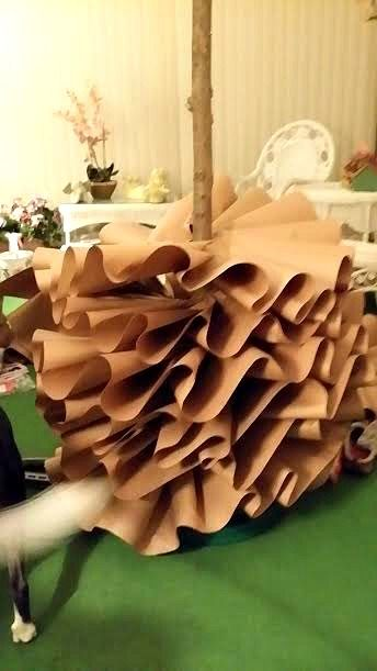 How To Make A Full Size Brown Paper Christmas Tree Crafts A La Mode Paper Christmas Tree Diy Christmas Tree Ornaments Diy Christmas Tree