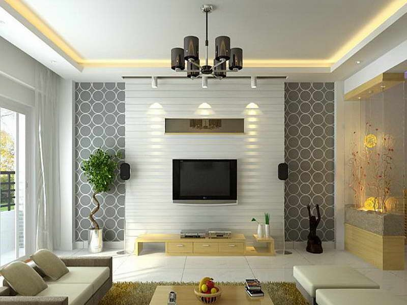 Choosing The Right Wallpaper To Make Beautiful Room. Room Interior  DesignLiving ...