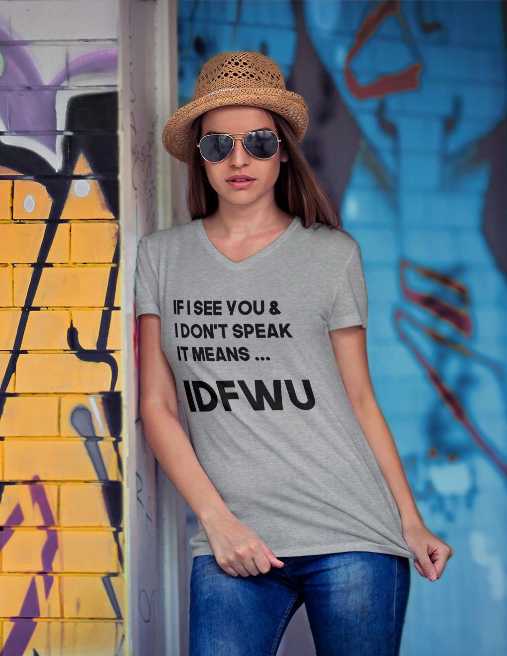 "808acee1929 Cardi B Bodak Yellow  Womens Graphic Tee Shirts   ""If I see you… IDFWU""   Quote Shirts  Funny tshirts  18  tee  shirts  tshirts  quoteshirts   graphictshirts ..."