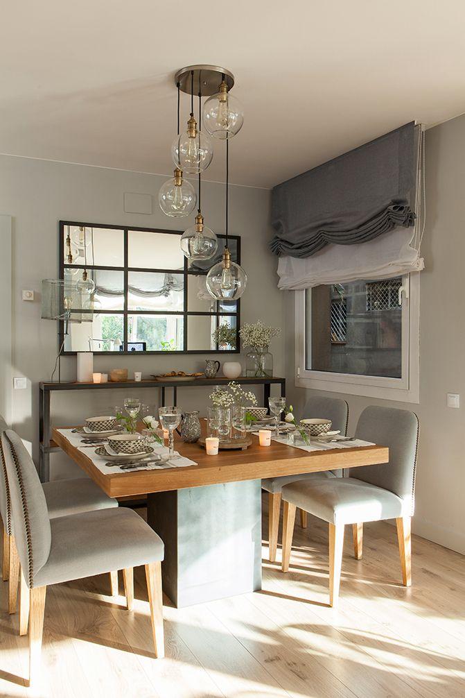 Comedor con mesa cuadrada de madera 00412109 o comedores for Mesas cuadradas para comedor