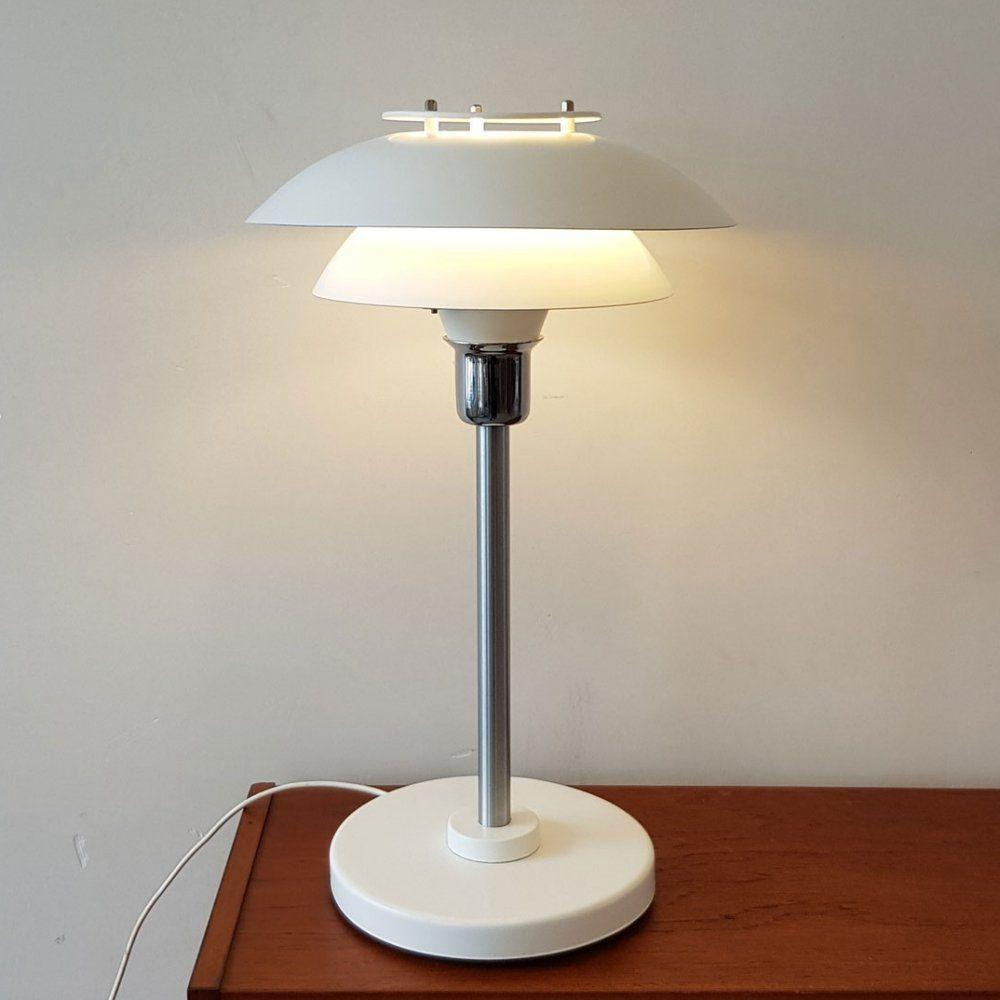 For Sale Danish White Desk Lamp 1980s