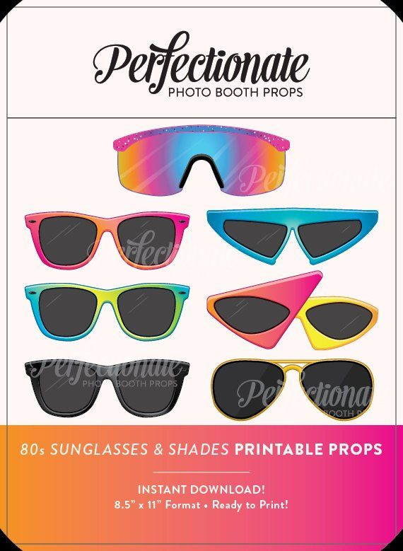 5cf298424df75 Printable 80s Sunglasses Photo Booth Prop