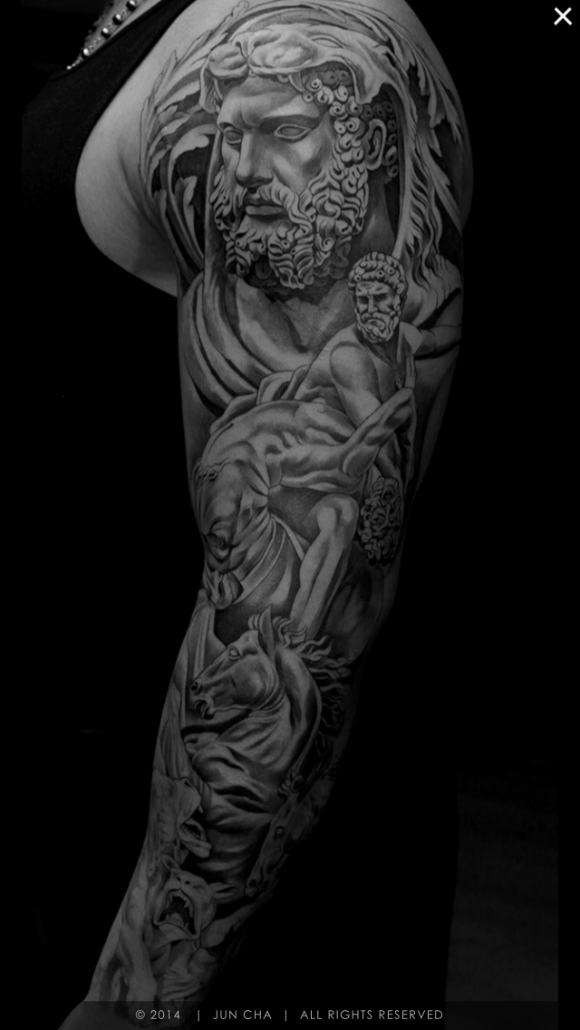 Tattoo poseidon sleeve
