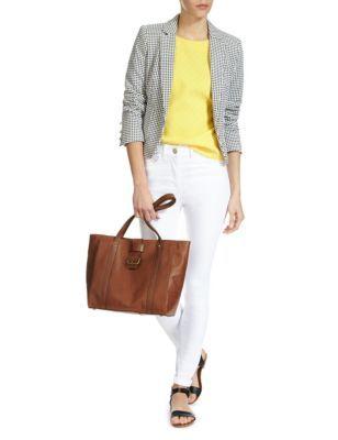 Leather Buckle Shopper Bag   M&S