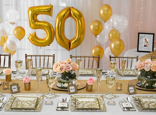 Golden Wedding Gift Ideas For Parents: 50th Anniversary Ideas - Party