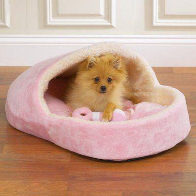 Slumber Pet Little Royal Dog Bed with Toy - Princess Pink