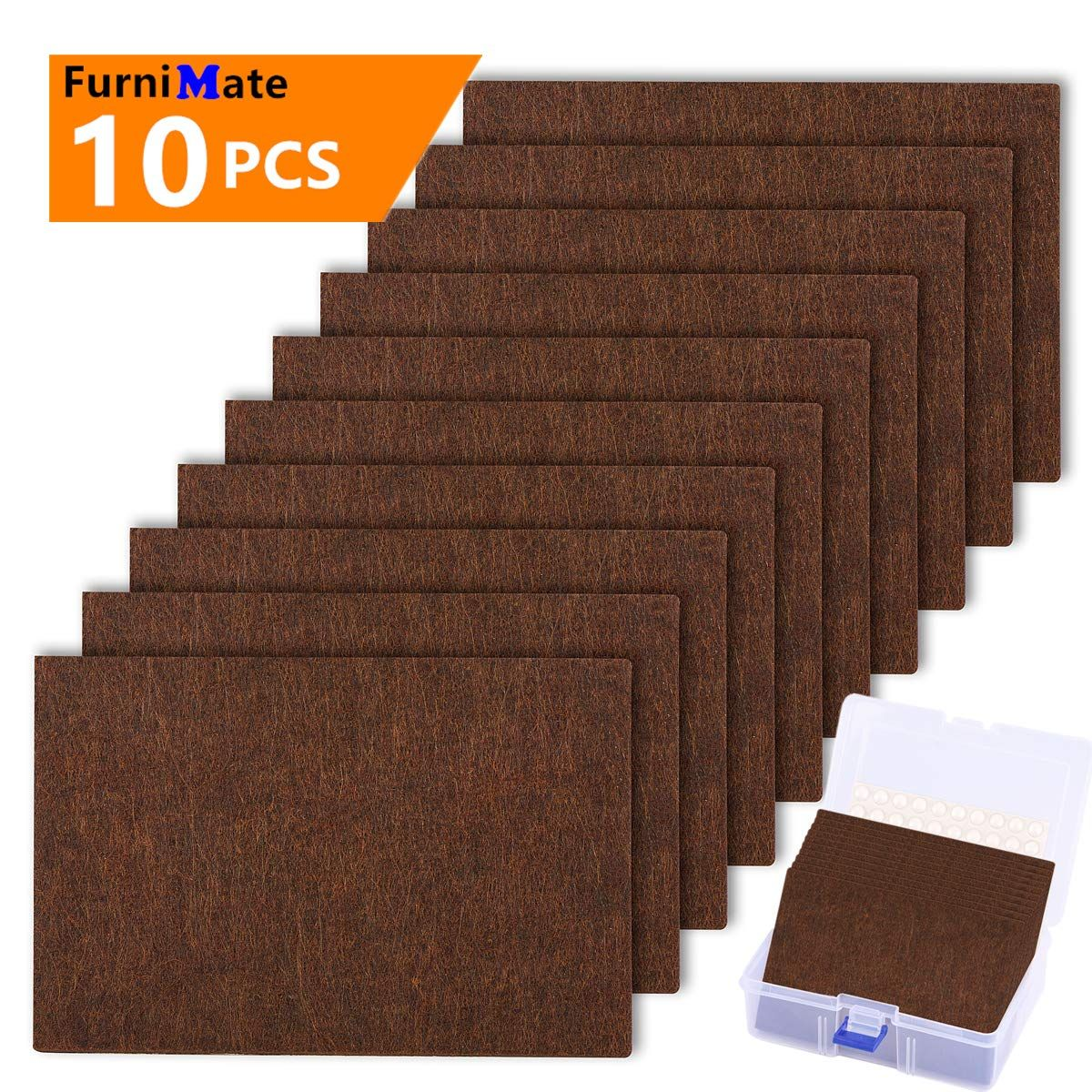 Furniture Felt Pads Sheets 10 Pieces Pack 6 X 4 Large Felt Furniture Pads Brown Heavy Duty 1 5 Anti Scra Furniture Pads Felt Furniture Pads Furniture Sliders