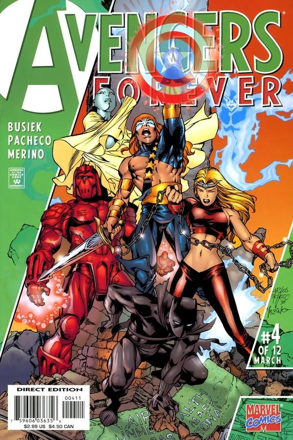 Comic Covers Avengers Forever 4 By Carlos Pacheco Jesus Merino