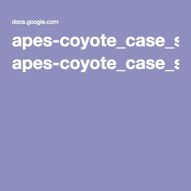 apes-coyote_case_study_reading pdf Introduction