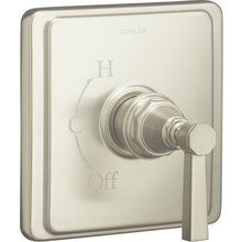 View the Kohler K-T13135-4A Pinstripe Single Handle Rite-Temp Pressure Balanced Valve Trim Only with Metal Lever Handle at FaucetDirect.com.