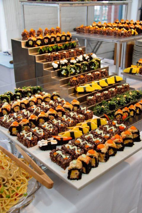 Appetizer Reception Wedding Sushi