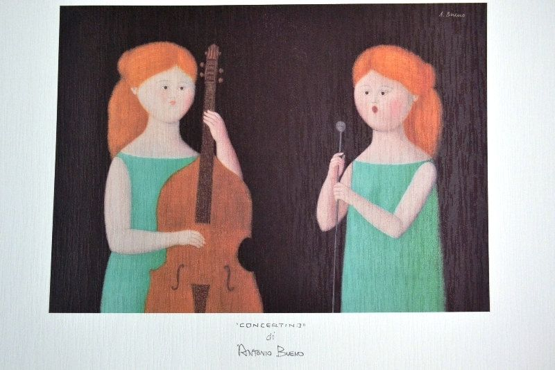 intera collezione ultimo sconto buona qualità ANTONIO BUENO 1920 Concertino stampa su cartoncino cm 35 x ...