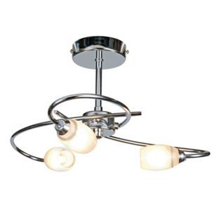 Heathcliff 3 light fitting chrome from homebase lounge find heathcliff 3 lamp chrome ceiling light at homebase visit your local store for the widest range of lighting electrical products mozeypictures