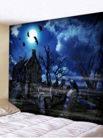 Halloween Tombstone Tree Printing Wall Tapestry#halloween #printing #tapestry #tombstone #tree #wall