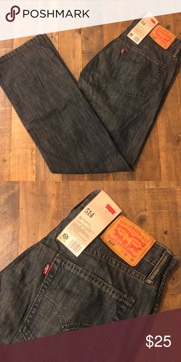 dc7b2ca15cf Levi's 514 Straight-Fit Jeans Levi's 514 men's straight fit jean. New with  tags and never worn, medium gray-blue color. Size 32x32. Levi's Jeans  Straight