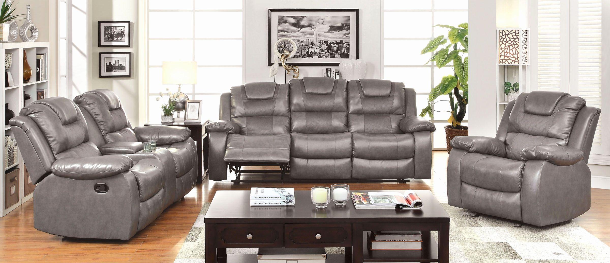 New Microfiber Sofa And Loveseat Set Living Room Reclining Sofa Set  Grandolf In Bonded Leather Index