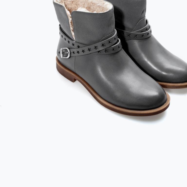 Zara Botki Ocieplane Szarosc Jedyne 31 Boots Casual Ankle Boots Zara Shoes