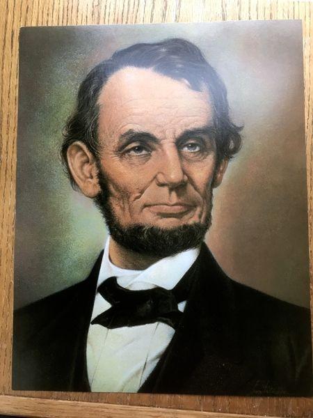 Vintage 1969 President Abraham Lincoln 11 X 14 Color Print