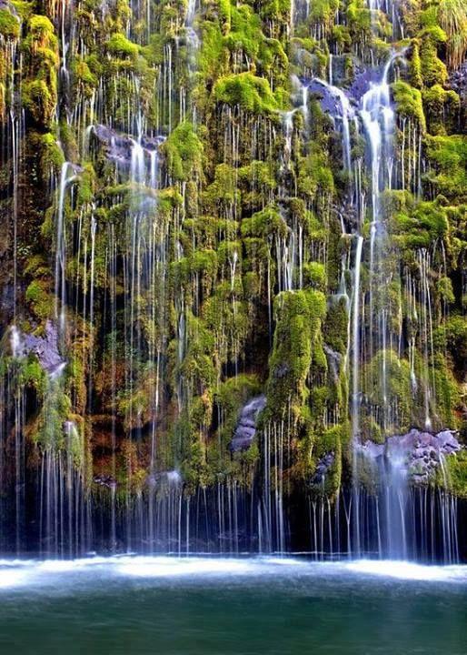 Mossbrae Falls, California, USA.