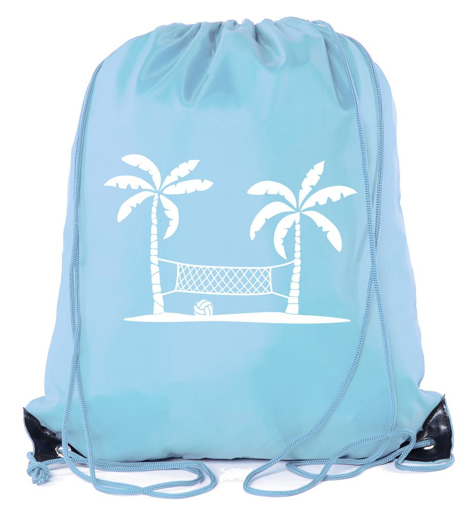 Stripe drawstring backpack 19x 13.5 front pocket with 12 inch zipper