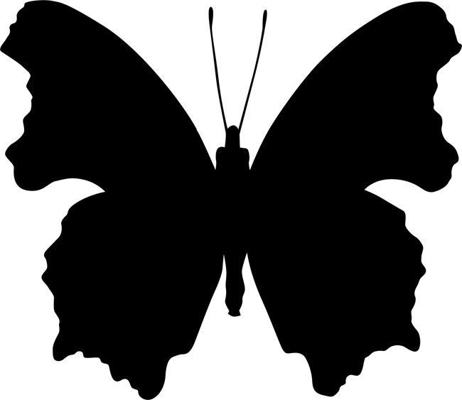 256Трафарет бабочки на стену распечатать