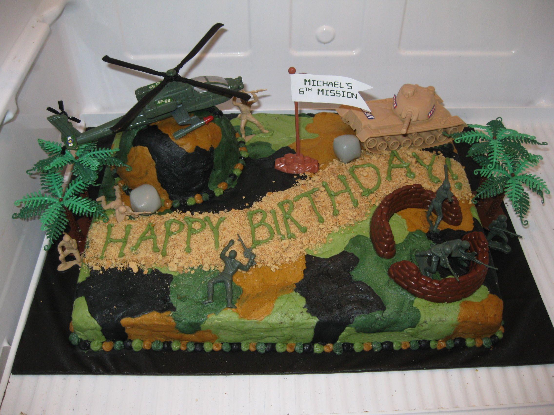 Camo Cake Buttercream graham crackerbrown sugar dirt road