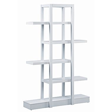 Monarch 71in. Bookcase, Open Concept Display Etagere, White