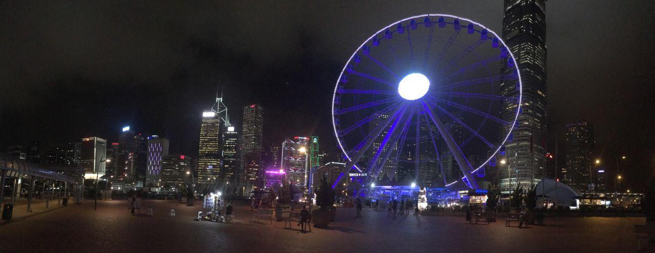 Central Hong Kong at night  [9942×3838]