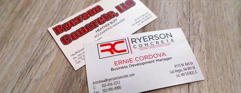 Las vegas business card redesign vegas printing check out how we las vegas business card redesign vegas printing check out how we helped ryerson concrete of reheart Gallery