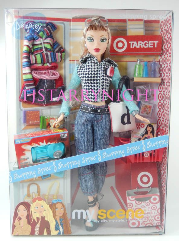 My Scene Shopping Spree Delancey Target Barbie Doll New In Box